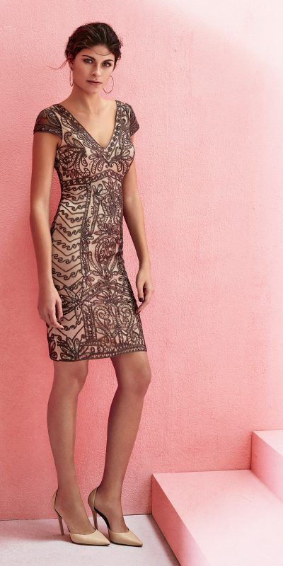 MARFIL 2J1A2 Vestido Fiesta Invitada Evening Dress