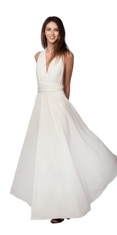 Coshop Long Infinity Dress Vestido Convertible Novia Bride Wedding Dress Wedding Gown Nuvia