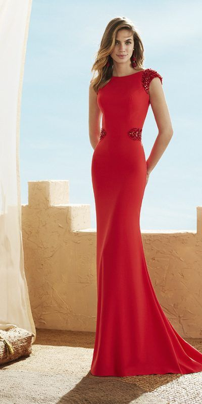 3J125_1 Marfil Vestido Invitada Fiesta Evening Dress