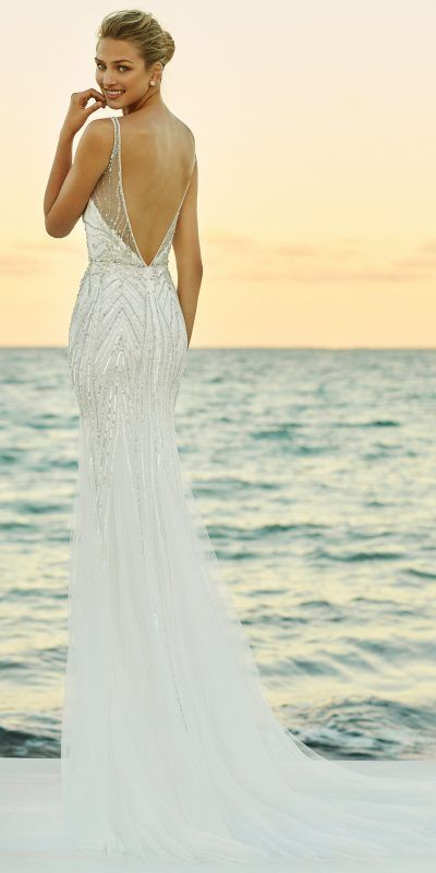 Wedding Dress Vestido De Novia Aire Barcelona Beach Galip 2